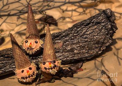 Scarecrow Cupcakes Poster by Iris Richardson