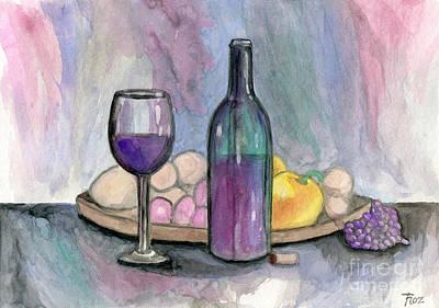Scene From An Italian Restaurant Poster by Roz Abellera Art