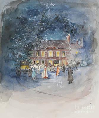 Scene From Jane Austens Emma Poster by Caroline Hervey Bathurst