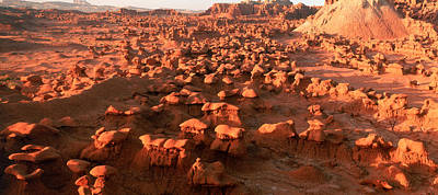 Scenic Rock Sculptures At Goblin Valley Poster by Panoramic Images