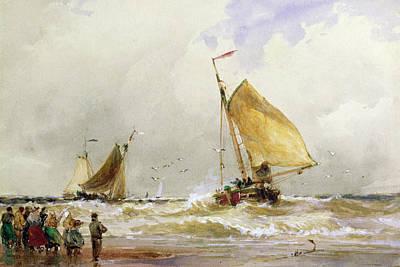 Schevenegen Beach Poster by Thomas Hardy