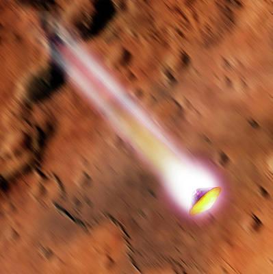 Schiaparelli Edm Lander At Mars Poster by Detlev Van Ravenswaay