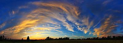 Schoolyard Sunset 1 Panorama Poster by Bill Caldwell -        ABeautifulSky Photography