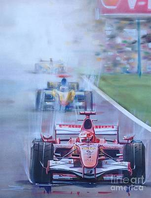 Schumacher In Motion Poster by Marco Ippaso