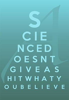 Science Eye Chart Poster by Helena Kay