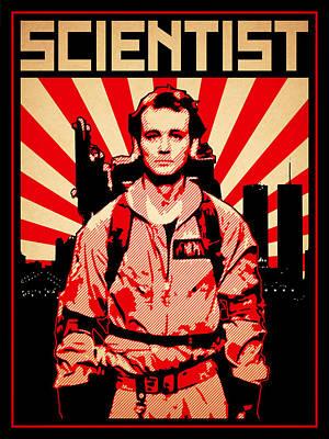 Scientist Poster by Lance Vaughn