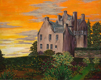 Scottish Gardens At Sunset Poster by Julia Robinson