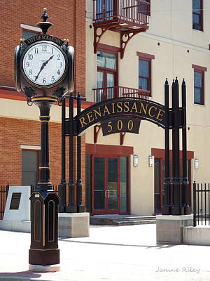 Scranton Street Clock - Lackawanna Avenue Poster by Janine Riley