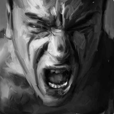 Scream Poster by H James Hoff