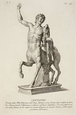 Sculpture Of Centaur From Italy Poster by British Library