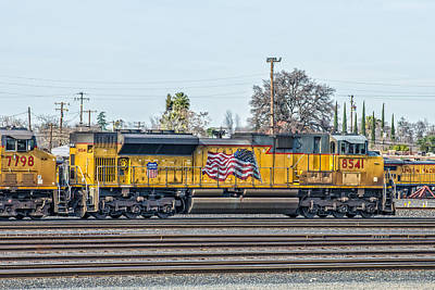 Sd70ace Up8541 Leading East Out Of Roseville Poster by Jim Thompson