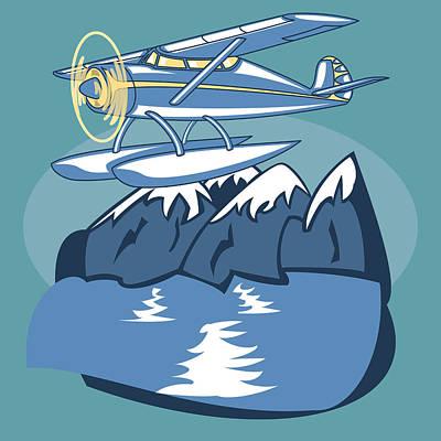 Sea Plane Poster by Volodymyr Horbovyy