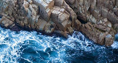Sea Rocks Poster by Frank Tschakert