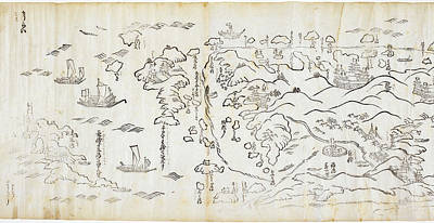 Sea Route In Japan Poster by British Library