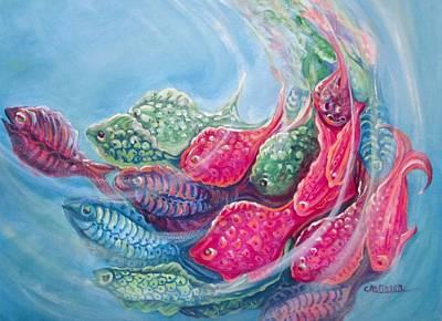 Sea Swirls Poster by Carol Allen Anfinsen