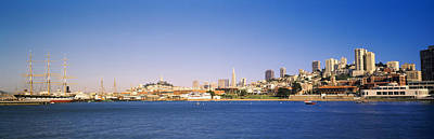 Sea With A City In The Background, Coit Poster by Panoramic Images