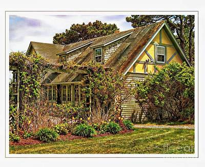 Seacoast Cottage Poster by Marcia Lee Jones