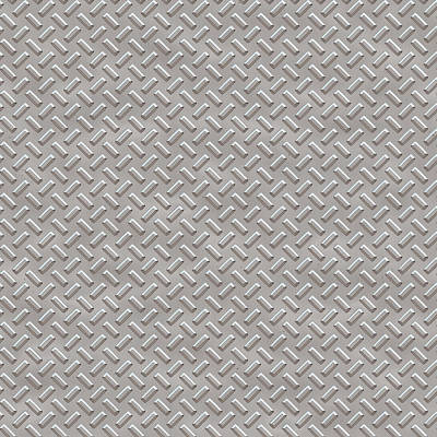 Seamless Metal Texture Rhombus Shapes 1 Poster by REDlightIMAGE