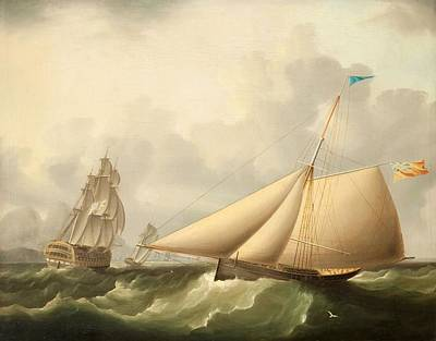 Seascape Poster by James E. Buttersworth