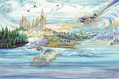 Seascape Man Poster by Marsha Walker