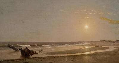 Seascape Poster by William Trost Richards