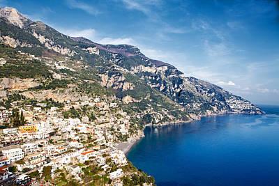 Seaside Town On The Amalfi Coast Poster by Susan  Schmitz
