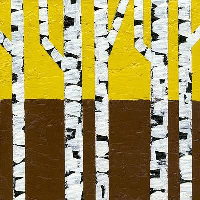 Seasonal Birches - Fall Poster by Michelle Calkins