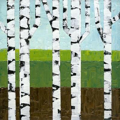 Seasonal Birches - Summer Poster by Michelle Calkins
