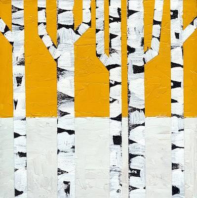 Seasonal Birches - Winter Poster by Michelle Calkins