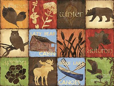 Seasons Lodge Poster by Debbie DeWitt