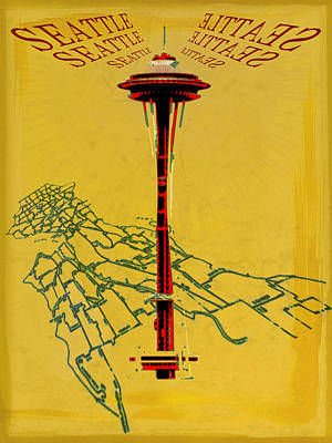 Seattle Calling Poster by Sandstone Inc