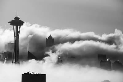 Seattle Fog Poster by Kyle Wasielewski