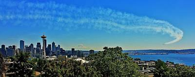 Seattle Seafair Panorama Poster by Benjamin Yeager