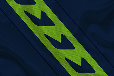 Seattle Seahawks Uniform Poster by Joe Hamilton
