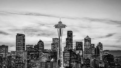 Seattle Skyline Poster by Kyle Wasielewski