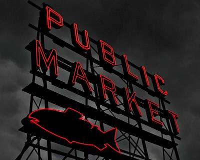 Seattle's Public Market Poster by Benjamin Yeager