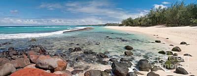 Secret Beach Maui Panorama Poster by Jim Chamberlain