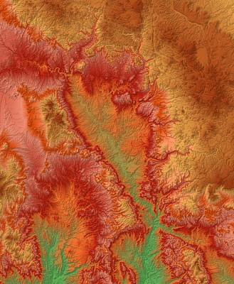 Sedona Arizona Map Art Poster by Paul Hein