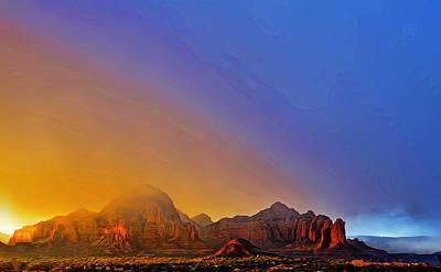 Sedona Stormy Sunset Poster by Dan Turner