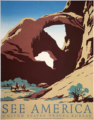 See America - Cowboys Poster by Georgia Fowler
