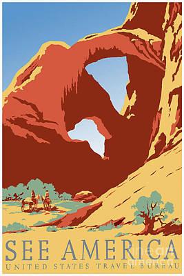 See America Vintage Travel Poster Poster by Jon Neidert