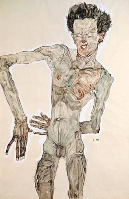 Self-portrait Poster by Egon Schiele