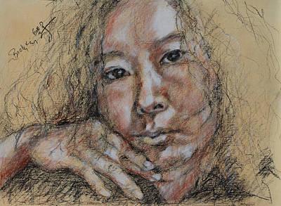 Self Portrait Of Becky Kim 2014 02 Poster by Becky Kim