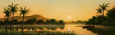 Seminole Sunset Poster by Jerry LoFaro