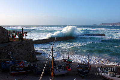 Sennen Cove Harbour Cornwall Poster by Terri Waters