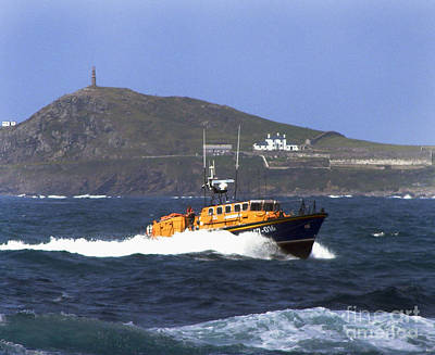 Sennen Cove Lifeboat Poster by Terri Waters