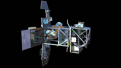 Sentinel-2 Satellite Interior Poster by Atg Medialab/esa