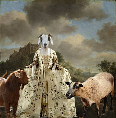 Separating The Sheep From The Goats Poster by Terry Fleckney