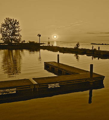 Sepia Sunset Poster by Frozen in Time Fine Art Photography