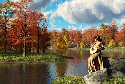 Serenading The Fall Poster by Daniel Eskridge